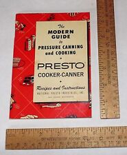 © 1969 The MODERN GUIDE to PRESSURE CANNING and COOKING - PRESTO COOKER-CANNER