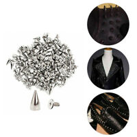 20/50/100pcs Shoes Leather Craft DIY Metal Spiked Punk Rivets Bag Clothes Studs