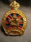 CANADIAN LEGION - BRITISH EMPIRE SERVICE LEAGUE WWII CAP BADGE S38 GILT & ENAMEL