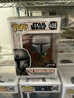 New Funko POP Star Wars The Mandalorian Flying With Blaster #408 GameStop Excl