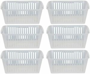 Plastic Handy Storage Basket Tidy Organizer For Office Home & School Set Of 6