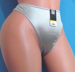 B14 Pink Satin Shiny wetlook stretch thong SMOOTH sissy bikini panties S M L 4XL