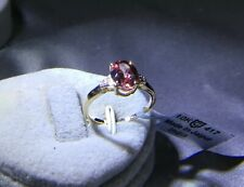 2.46 cts Genuine Zanzibar Zircon Size 7 Ring 10k Gold Zircon Accents