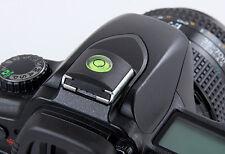 2in1 Kamera Wasserwaage Blitzschuhabdeckung Schutz SLR schwarz für alle DSLR SLR