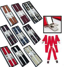 Bretelles Elastique Homme 4 Pinces EXTRA forte Modèle aux choix couleurs vintage