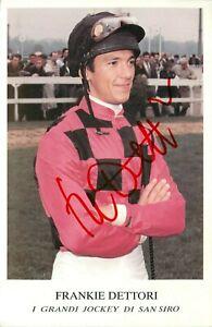 Autografo del fantino Lanfranco (Frankie) Dettori (Milano, 1970)