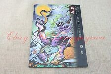 2017 Japanese Style Tattoo Flash KOI Dragon Skull Hannya Gril Painting Book