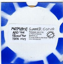 (EZ737) Mat Motte & The People That Hate Him, Summer Song - DJ CD