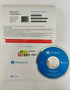 Microsoft Windows 10 Home [Sealed Retail Full Version OEM] DVD+Key 1 PC 64 Bit