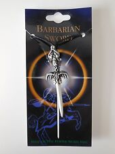 ADJUSTABLE PEWTER SWORD PENDANT NECKLACE - BARBARIAN SWORD Approx 7cm