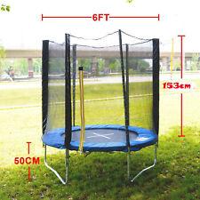 6FT Trampoline Set + Safety Net Enclosure Ladder Carry Bag Rain Cover Kids Sport