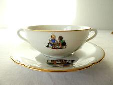Dejeuner tasse et sous-tasse en porcelaine de LIMOGES Larcheveque