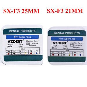 Dental Engine Use NiTi Super Rotary File SX-F3 21MM/25MM Machine Taper 6pcs/Pack