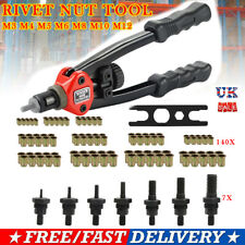 Professional Heavy Hand Tool Riveter Nut Rivnut Gun Mandrels Rivet Repair M3-M12
