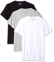Kenneth Cole Reaction Men's 100% Cotton Crewneck T-Shirt Tee, 3 Pack SMALL
