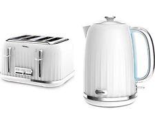 Breville Impressions White jug Kettle VTT470 and White Toaster  VKJ738 Set NEW