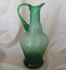 18C. ANTIQUE ISLAMIC OTTOMAN TURKISH HAND MADE GLASS PITCHER JUG RARE!