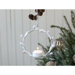 Chic Antique Hängewindlicht Kranz  Teelicht Christmas Weihnachten Shabby Vintage