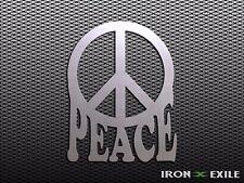 PEACE SIGN -- Metal Wall Art Decor Hippy 60's 70's Retro Psychedelic Gypsy