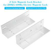 Z Holder Bracket For 280KG 600lbs Magnetic Lock Door Access Control Syestem O0J5