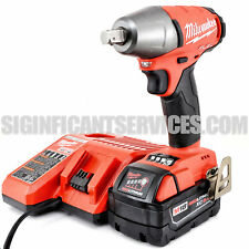 """New Milwaukee 2755-20 M18 FUEL 1/2"""" 5.0 Ah Compact Detent Pin Impact Wrench Kit"""