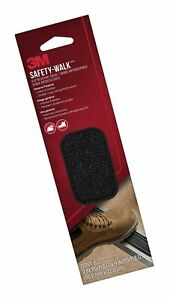 "3M Safety-Walk Slip Resistant Tread Black Indoor Outdoor 600 Grit 2"" x 9"" New!"