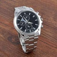 Luxury Men's Date Stainless Steel Army Sport Analog Quartz Fashion Wrist Watch