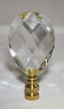 LAMP FINIAL-FACETED GLASS LAMP FINIAL