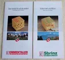 2  Stück Sbrinz + Emmentaler Käse aus der Schweiz Rezepte Werbung Kochen