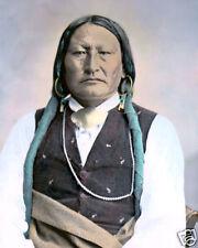 "BIRD CHIEF ARAPAHO WARRIOR 1871 NATIVE AMERICAN 8X10"" HAND COLOR TINTED PHOTO"