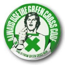 """Green Cross Code Mann - 25mm 1"""" Button Badge-Neuheit Süß siebziger Jahren"""