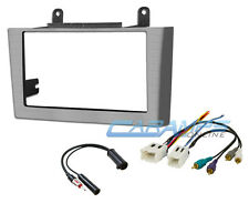 2000-2003 MAXIMA COMPLETE GRAY DOUBLE 2 DIN CAR STEREO RADIO INSTALL DASH KIT