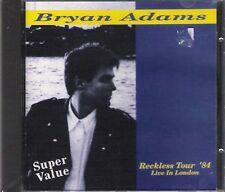 "BRYAN ADAMS-RARO CD ITALY ONLY 1993""RECKLESS TOUR'84"""