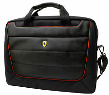 Ferrari Computer Messanger Bag Black with Red Piping