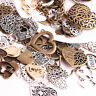 50Pcs Heart Charms Metal Antique Charm Pendant DIY Jewelry Making Necklace Craft