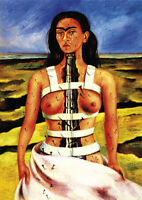 Frida Kahlo -The Broken Column - A4 size 21x29.7cm QUALITY Canvas Print Unframed