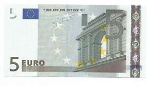 5 EURO TRICHET T IRLANDA K003.. UNC . NUMERAZIONE RARISSIMA