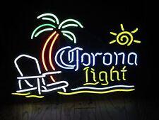 "New Corona Light PALM Tree Chair Sun Beer Neon Sign 20""x16"" Ship From USA"