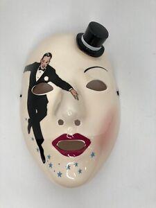 Vintage Vandor 1983 Pelzman Designs Japan Mask Ceramic Wall Decor Fred Astaire