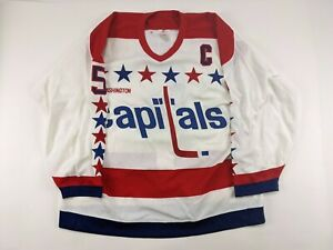 1990s ROD LANGWAY Washington Capitals GAME ISSUED Jersey