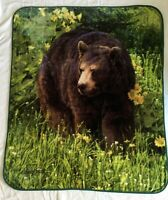 Bear Plush Blanket Throw 50x60 Northwest Daniel Smith