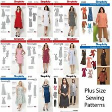 Simplicity Sewing Patterns Women's Plus Large Size Clothing Amazing Fit Dresses