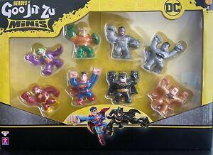 Heroes Of Goo Jit Zu DC Minis Set of 8 - Inc Ultra Rare Gold Batman - Free P&P ✔