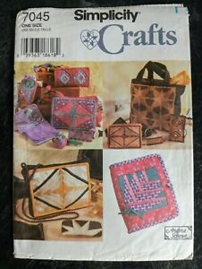Simplicity 7045 Sewing Pattern Patchwork Bag Sewing Accessories Glasses Case