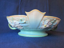 PEDESTAL BOWL! Vintage ROSEVILLE ART pottery: original COSMOS pattern EXCELLENT!