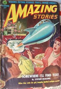 Vintage Sci-Fi  Pulp  AMAZING STORIES  12-51   FREDERIC BROWN, ROG PHILLIPS
