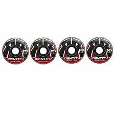 Rink Rat Wheels 80mm 78A Identity XX Red/Blk 4-Pack Inline Indoor Roller Hockey