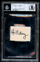 Hillary Clinton signed autograph 1.5x1.5 cut Former 1st Lady & Sec of State BAS