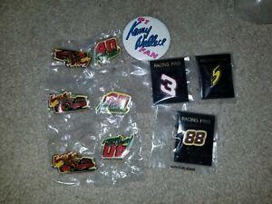 KENNY WALLACE  #1 FAN NASCAR RACING  PIN Earnhardt Jarrett