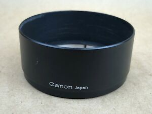 Canon T-65 Vintage Black Metal Lens Hood / Shade in Super Clean Conditions